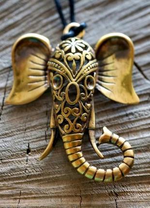 Подвеска бронзовая амулет слон для процветания и силы