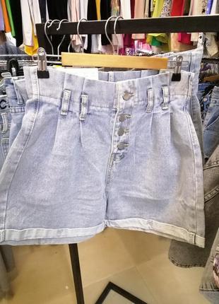 Шорты джинсовые с высокой посадкой новые с бирками