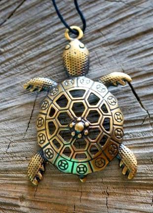 Бронзовая подвеска-амулет черепаха