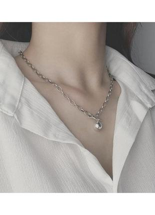 🔗цепь на шею массивная цепь на шею многослойная цепь на шею чoкер подвеска на шею