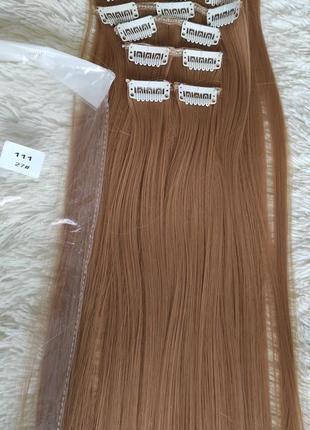 Искусственные волосы, трессы 7 шт на 16 клипсах