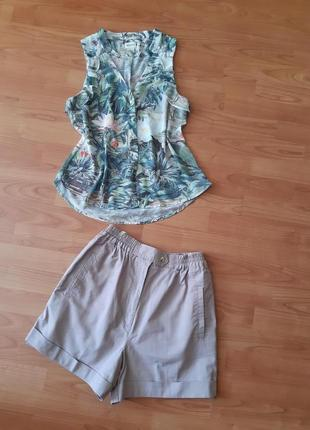 Распродажа летнего. шорты с завышенной талией + блуза