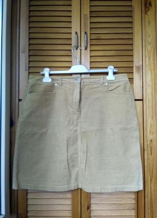Вельветовая юбка фирменная xl