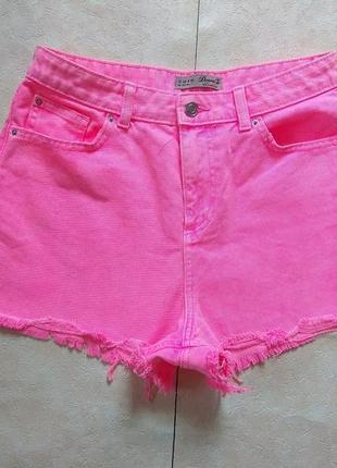 Яркие джинсовые шорты c высокой талией denim co, 12 размер.
