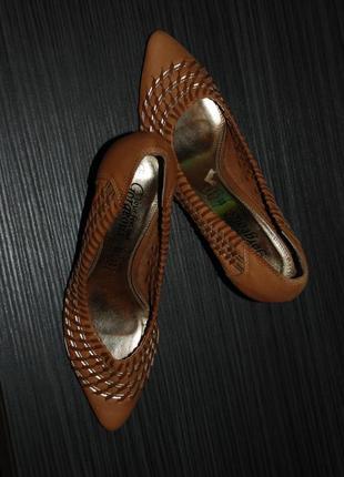 Туфли туфельки с плетением наш 37 размер ( евро 38)