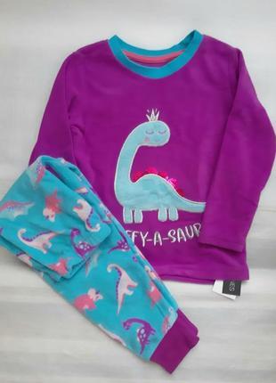 3-4 годика флисовая пижамка для девочек из англии