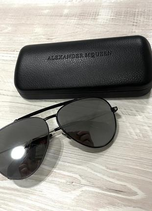 Оригинал солнцезащитные очки alexander mcqueen черные