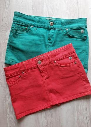 Яркие джинсовые юбки
