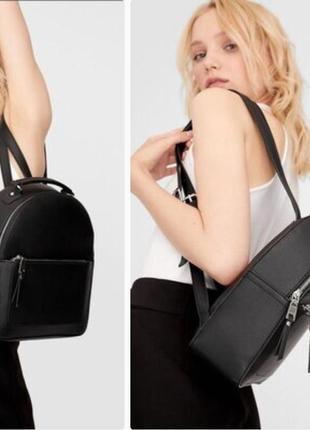 Чёрный рюкзак stradivarius сумка