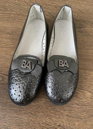 Туфли детские для девочек, туфли для девочки кожа, туфлі для дівчинки шкіра, шкільні туфлі