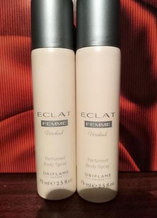 Парфюмированный спрей дезодорант для тела eclat femme weekend 37771 oriflame экла уикенд орифлейм