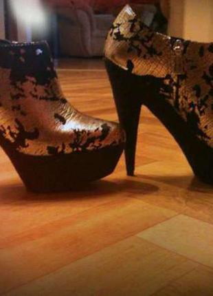 Натуральные ботинки, ботиночки, ботильйоны , туфли colin stuart!! 36р.