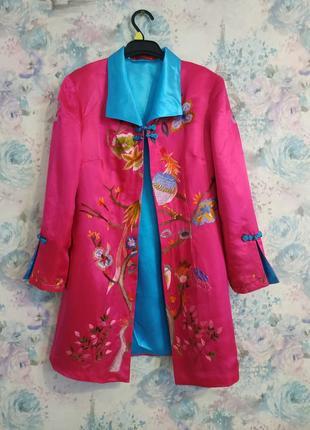 Атласный пиджак в китайском стиле, китайский пиджак ,косплей