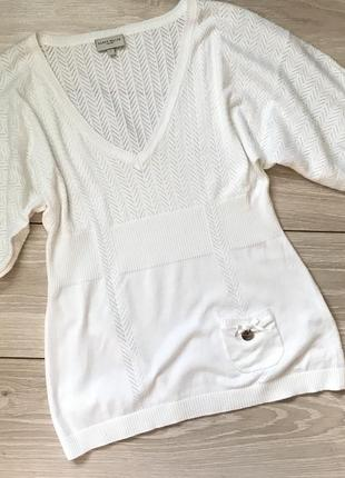 Блуза топ молочного цвета хлопок 35karen millen s