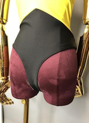 Яркий желтый секси цельный слитный купальник монокини бикини купальник сетка 20215 фото