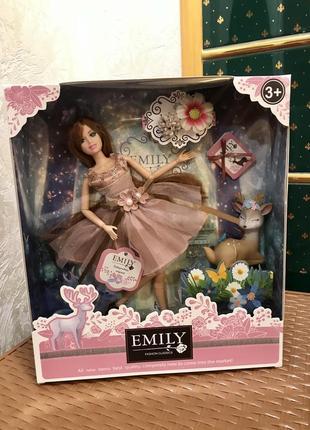 Кукла emily шарнирная с оленёнком