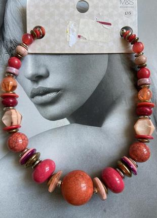 Бусы marks&spencer ожерелье