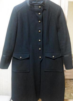 Отличное шерстяное пальто 22 размер (наш 58)