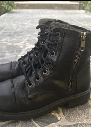 Ботинки zara 32 кожа