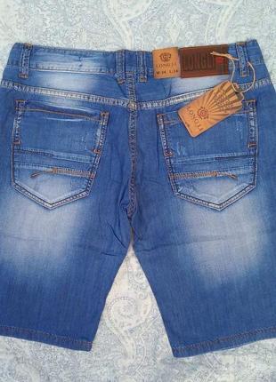Шорты мужские тонкие джинсовые летние синие царапки 32,33,34,36,38