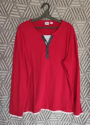 Красная футболка с длинным рукавом, лонгслив