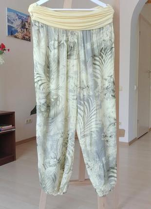 Италия вискозные легкие штаны шаровары алладины бохо