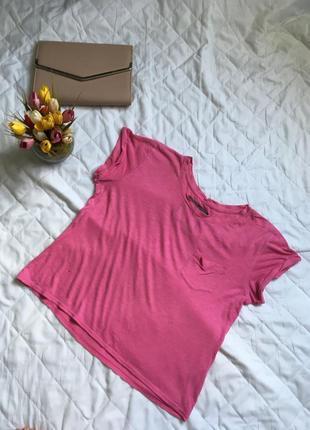 Футболка розовая от abercrombie & fitch