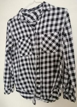 Рубашка в клеточку пог - 49 см
