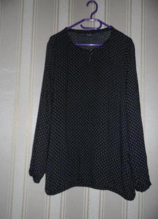 Блуза длинный рукав / размер 42/  xl вискоза