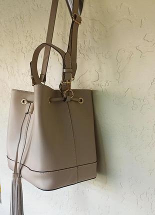 Итальянская кожаная сумка мешок