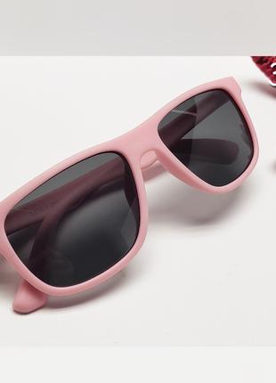 Дитячі окуляри лінза поляризаційна в  матовій розовій оправі