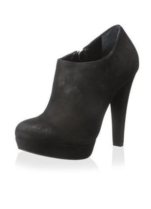 Черные кожаные ботинки ботильоны бренд schutz р. 38 made in brazil