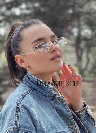Имиджевые очки с серьгой😍
