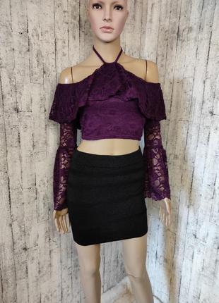 Шикарная кружевная блуза/топ