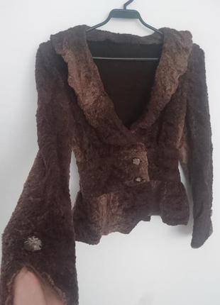 Пиджак из чебурашки под каракуль 🐑
