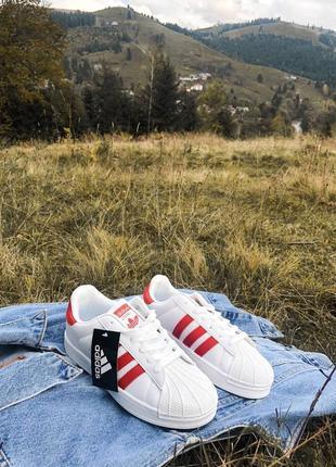 Кроссовки унисекс суперстар classic adidas
