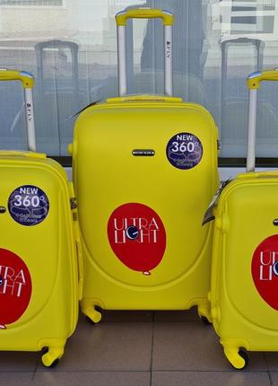 Чемодан  хит продаж fly  k 310 yellow 🇵🇱