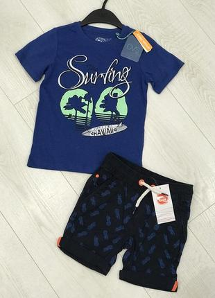 Стильный комплект на мальчика, шорты и футболка