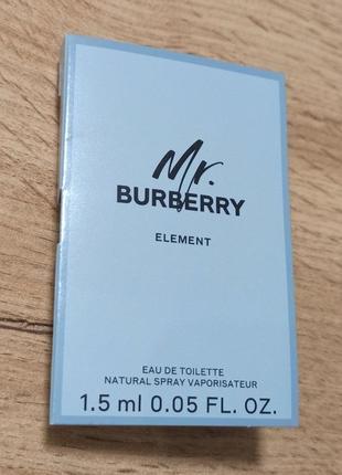 Burberry mr. burberry element туалетная вода