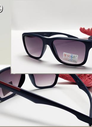 Детские очки с защитой уф синяя матовая оправа