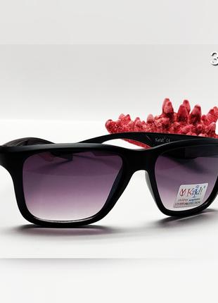 Детские очки в чорной матовой оправе с защитой уф400
