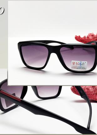 Детские очки с защитой уф в матовой черной оправе