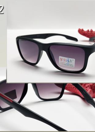 Детские очки с защитой уф серая матовая оправа