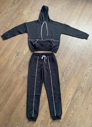 Спортивный костюм лето, прогулочный костюм трикотажный, худи и джогеры