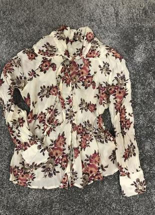Шикарная рубашка в модный цветочный принт