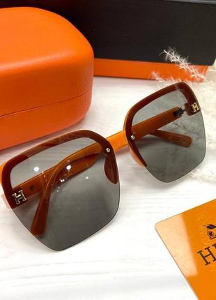 Солнцезащитные очки в стиле hermes