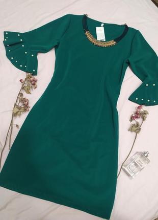 Платье с красивыми рукавами 🤍