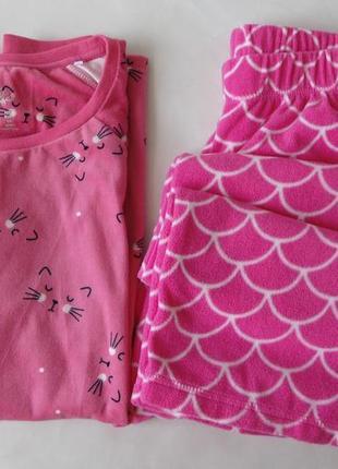 Пижама домашний костюм primark love to lounge с 10-12 велюр-флис