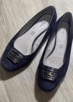 Туфли балетки большой размер кожа