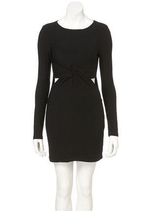 ✨крутое облегающее платье с вырезами по бокам на длинный рукав topshop✨